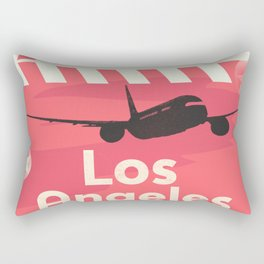 Los Angeles RED Rectangular Pillow