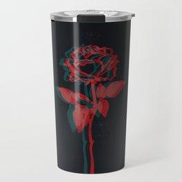 Glitchy Rose Travel Mug