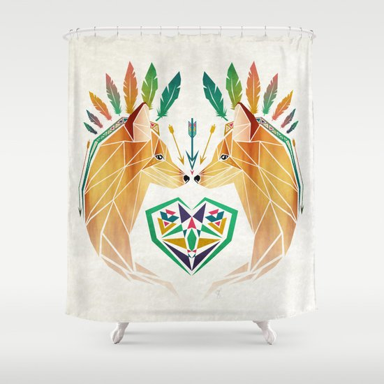 foxes in love Shower Curtain