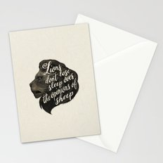 Lions don't lose sleep over the opinions of sheep Stationery Cards