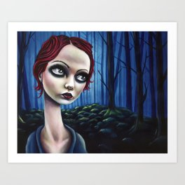 Back in the Woods, Under Ashes, There Are Stones Art Print