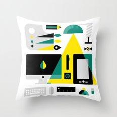Designer's Kit Throw Pillow