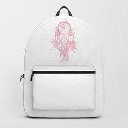Dreamcatcher Art Colorful Watercolor Pink Artwork Backpack