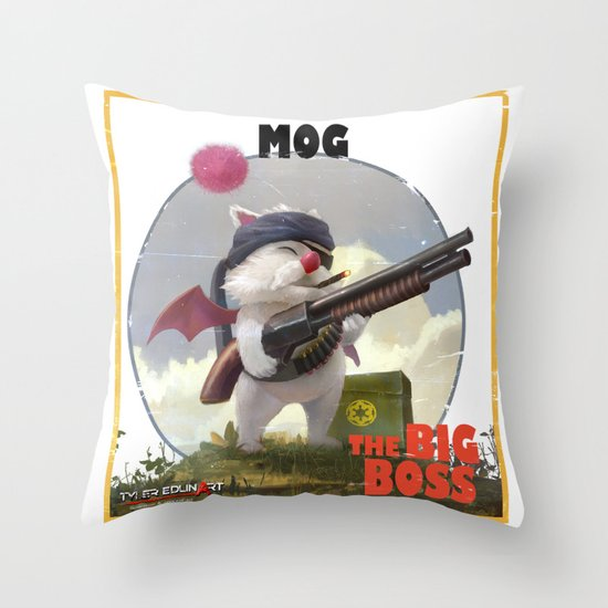 Retro Big Boss Promo  Throw Pillow