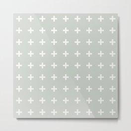 Gray Grey Plus Sea Salt Metal Print