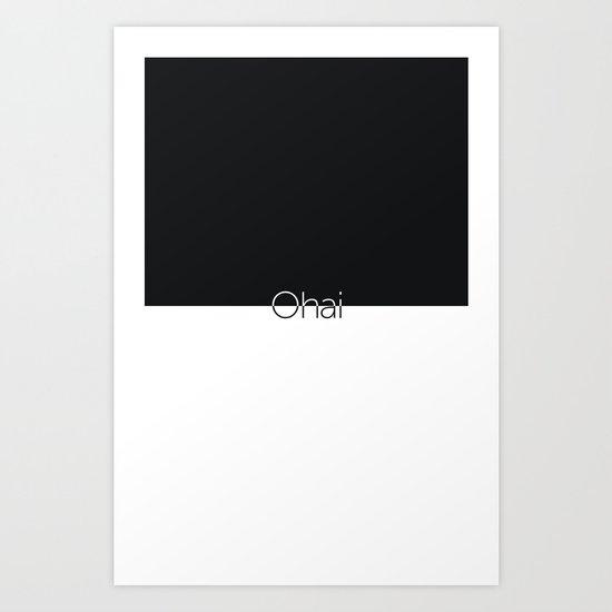 ohai Art Print