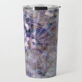 spider web and bokeh Travel Mug