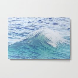 Sea Wave Minimal Poster Metal Print