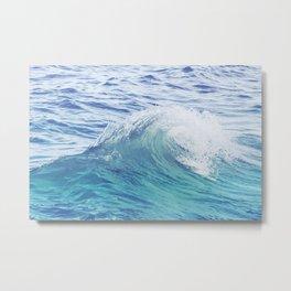 Sea Wave Minimal Poster Metal Print