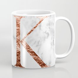 Monogram rose gold marble K Coffee Mug