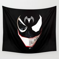 venom Wall Tapestries featuring Venom The Evil by Febrian89