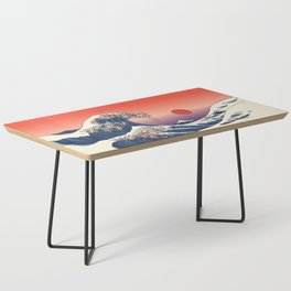 The Great Wave of Dachshunds Coffee Table