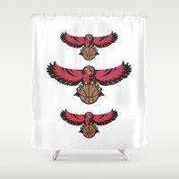 hawk Shower Curtains featuring Hawk by Dexter Gornez