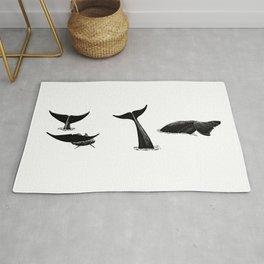 Whale flukes Rug