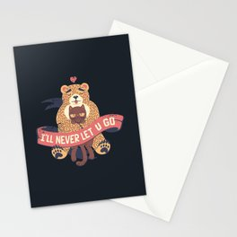 Ill Never Let You Go Bear Love Cat Stationery Cards