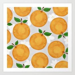 Orange Blossom Print Art Print