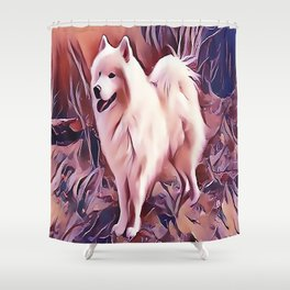The Siberian Samoyed Shower Curtain