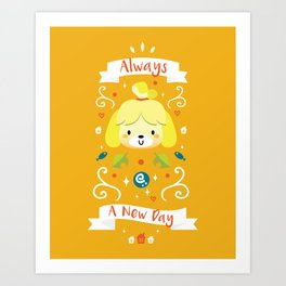 Animal Crossing: Isabelle Art Print