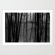 Trees in winter Art Print