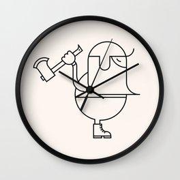 Woodcutter Wall Clock