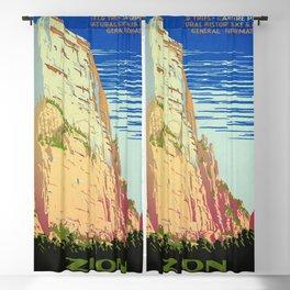 WPA vintage Travel poster - Zion National Park - National Park Service Blackout Curtain