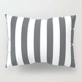 Grey and white stripes Pillow Sham