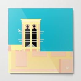 Wind-towers of Bastakiya by Dubai Doodles 002 Metal Print