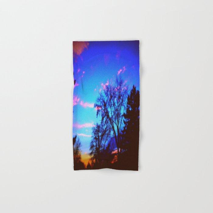 Colorful Sky (vintage) Hand & Bath Towel