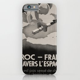 Affiche Maroc-France iPhone Case
