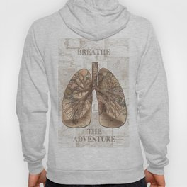 breathe the adventure-world map 1 Hoody