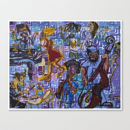 Jazz Squares Canvas Print