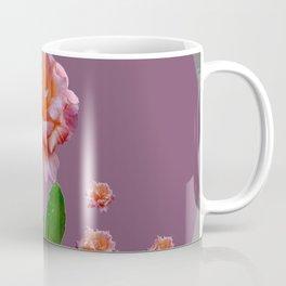 PUCE-GREY PINK ROSE GARDEN ART Coffee Mug