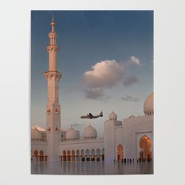 White Mosque in Abu Dhabi 2 Poster