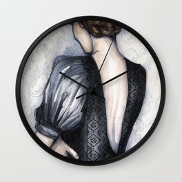Wallflower // Fashion Illustration Wall Clock