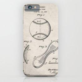 Baseball Patent - Softball Art - Antique iPhone Case