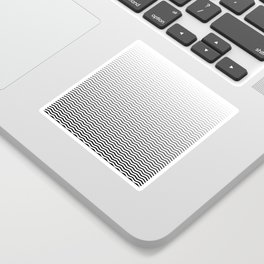 Black And White Fade Ombre Shaded Wave Sticker