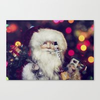 santa Canvas Prints featuring Santa by ThePhotoGuyDarren