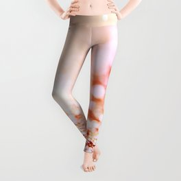 Pink shiny glitter - Sparkle Girly Valentine Backdrop Leggings