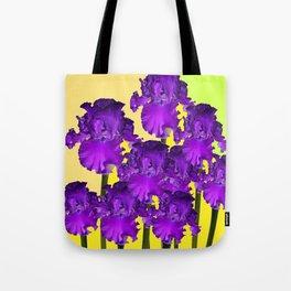 Yellows Contemporary Purple Iris Garden Art Tote Bag
