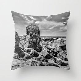 Big Rocks at Praia Malhada Jericoacoara Brazil Throw Pillow