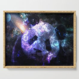 Galaxy Panda Planet Colorful Serving Tray