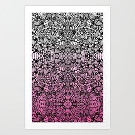 Pink Zen  Art Print