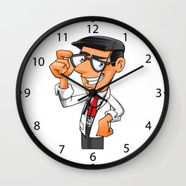 Young Doctor with glasses  Wall Clock