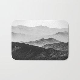 Glimpse - Black and White Mountains Landscape Nature Photography Bath Mat