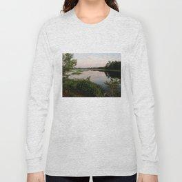 Pennamaquan River at Sunset Long Sleeve T-shirt