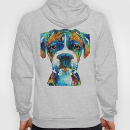 Colorful Boxer Dog Art By Sharon Cummings Hoody