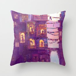 Little Girl Lost Throw Pillow