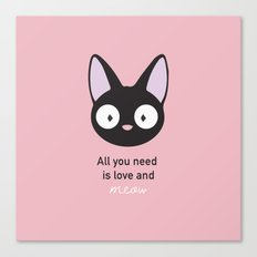 All you need is love and meow! Canvas Print