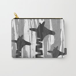 Unique Abstract Giraffe Family Carry-All Pouch