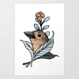 The canary Art Print